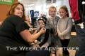 Sonia Albanese, Bodhi Hobbs, Shanaya Nicholls and Sasha Hinch at the Hot or Cold draw at Harvey Norman.